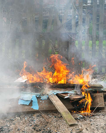 defilement: Toxic Fire smoking Flame in city