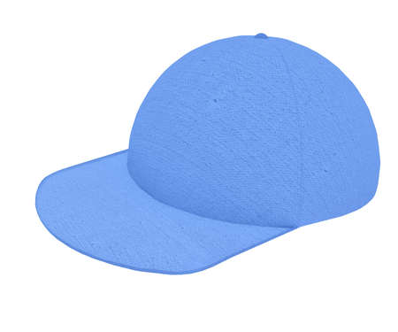promoter: Cloth Cap Sport 3d render textured cotton on white background