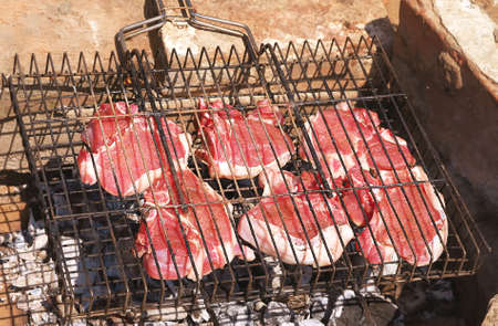 carcass meat: Raw Meat fresh ready to be grilled barbecue summer Stock Photo