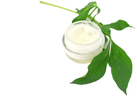 Cream bio skin care on white background Stock Photo