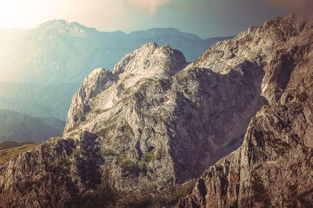 Rocky Mountains Landscape beautiful Caucasus nature Standard-Bild