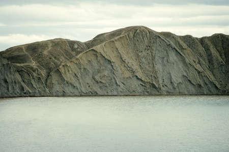 headland: Beautiful Sea and Sky horizon Landscape with headland Summer Travel pastel colors Stock Photo