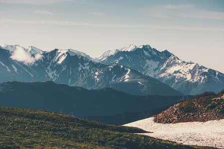 Montagnes Paysage Voyage serein vue panoramique