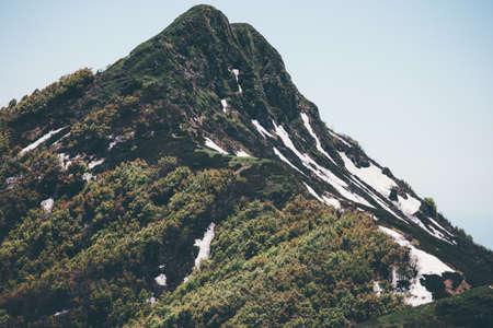 Mountain peak Paysage Voyage serein vue panoramique Banque d'images