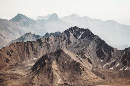 Bergenlandschap Travel luchtfoto serene landschap wilde natuur