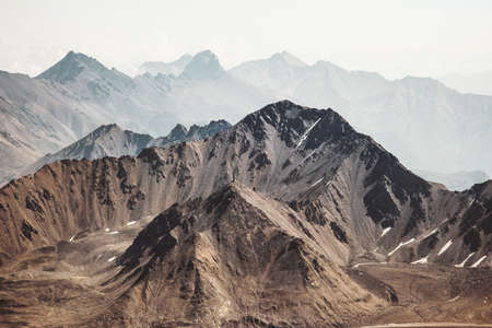 Montagnes Paysage Voyage Vue aérienne paysage serein nature sauvage