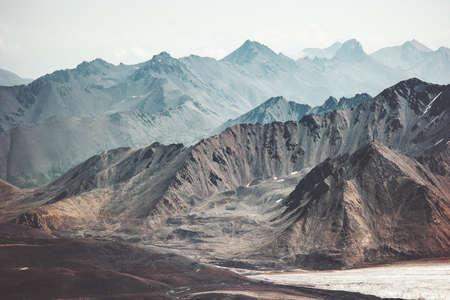 Montagnes Paysage Voyage Vue aérienne paysage serein nature sauvage calme scène idyllique