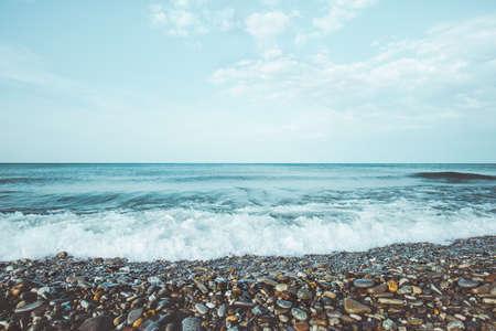 Mer vagues été Paysage calme et la tranquillité vue scénique vacances d'été voyage