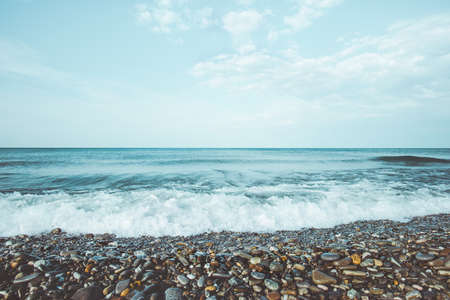 reizen zee golven zomer Landschap kalmte en rust schilderachtige uitzicht op de zomervakanties