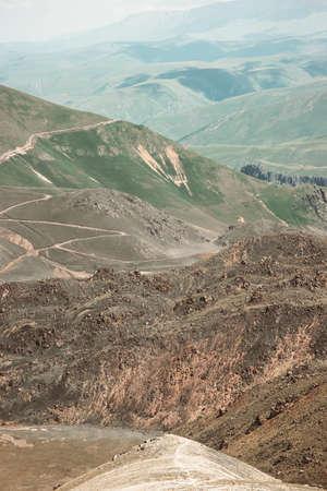 山風景旅行空撮穏やかな風景を野生自然穏やかな雰囲気のシーン 写真素材