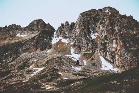 Paysage des Montagnes Rocheuses Voyage d'été Paysage sauvage Banque d'images