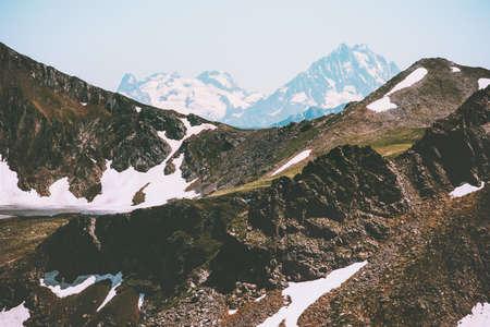 Caucasus Mountains Landscape Summer Travel wild nature