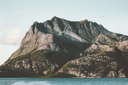 Norway Mountains fjords Landscape Travel scenery scandinavian nature Stockfoto