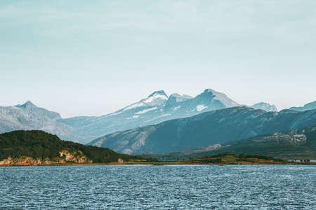 Norway Mountains and sea Landscape Travel scenery scandinavian nature