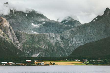 Mountains Landscape Romsdal Alps in Norway Travel scenery scandinavian nature Stockfoto