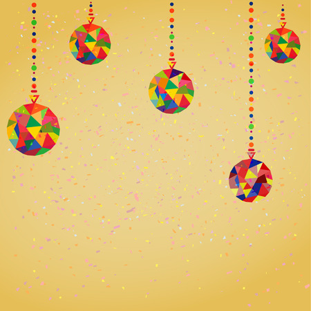 Vector Background with Christmas Decoration Balls hipster style Vector