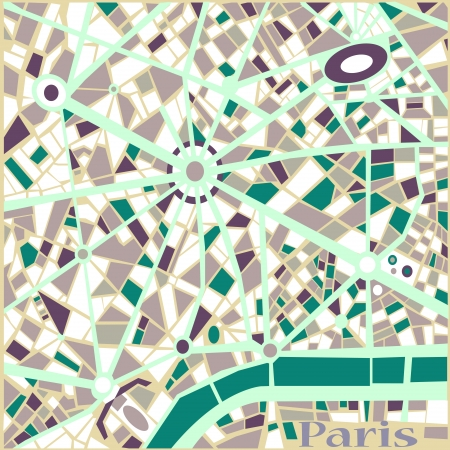 abstract city: Vector Background Abstract Pattern Paris city map Trendy colors  Illustration