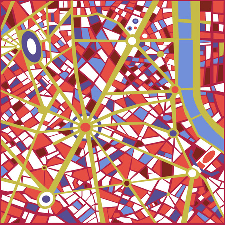 abstract city: Vector Background Abstract city map Trendy Pattern colors