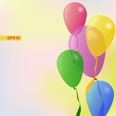 Vector Background with Balloons Holiday Greeting card Vector