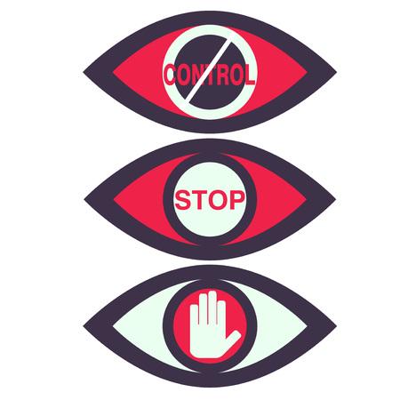 totales: Control Total y esp�a de vigilancia del vector Iconos
