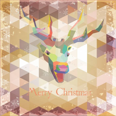 santa moose:  Abstract Holiday Christmas Background Grunge Retro effect  Illustration