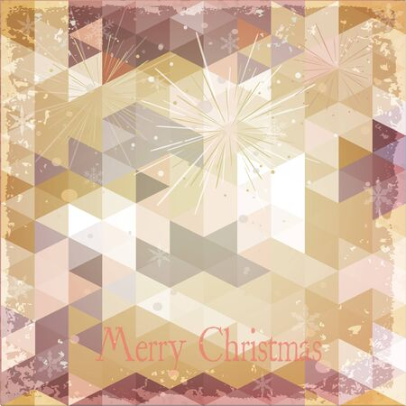 Abstract Holiday Christmas Background Grunge Retro effect Vector  Vector