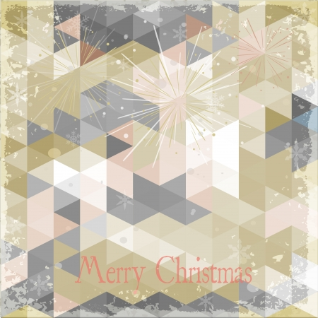 Abstract Holiday Christmas Background Grunge Retro effect  Vector