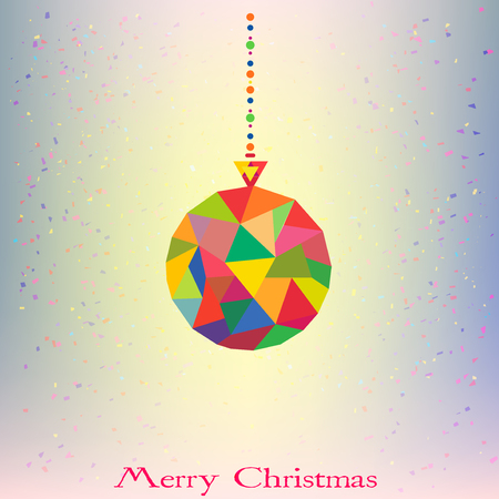 Christmas tree Decoration Ball hipster geometric style in vector Illustration