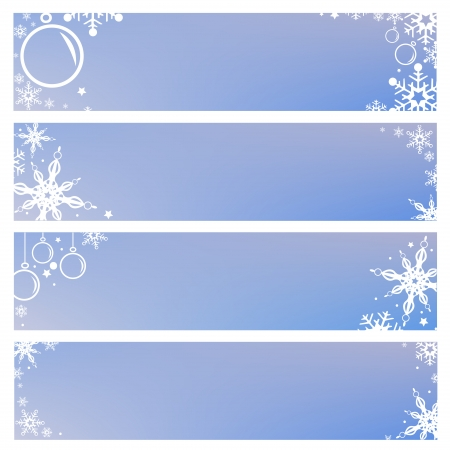 Vector Set Banner Backgrounds with Snowflakes Christmas and New Year Holidays Vector