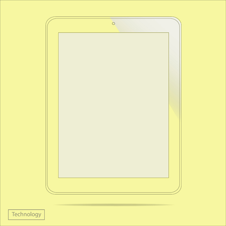 Tablet PC new Digital Computer Technology design graphic design trendy style in vector Vector