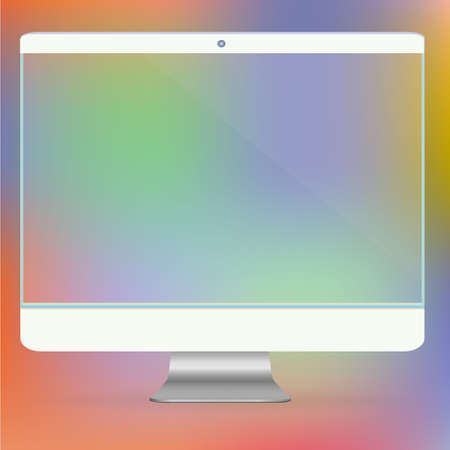 Transparent Computer Screen new Digital Technology PC Futuristic concept creative design horizontal in vector Illustration