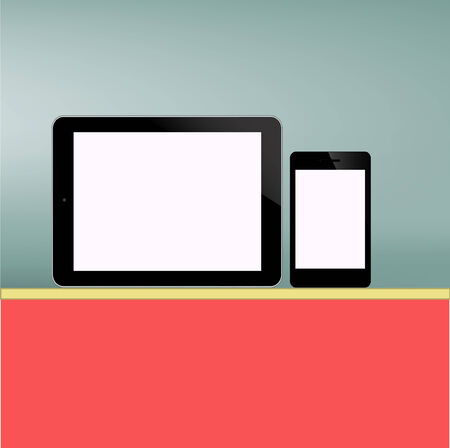 ablet PC and Smart phone Screen new Computer Technology concept in vector