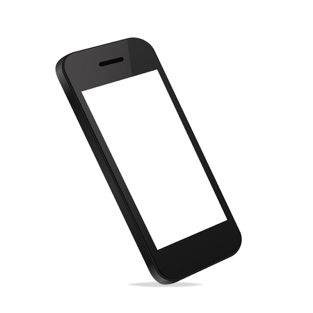 phone vector: Mobile Smart Phone new Technology modern blank screen isolated on white background Perspective view in vector