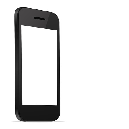 Mobile Smart Phone new Technology modern blank screen isolated on white background Perspective view in vector