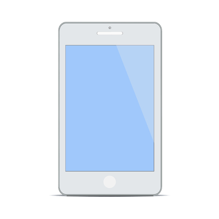 Modern blank Mobile Smart Phone new Digital Technology concept design graphic design trendy style background white isolated illustration
