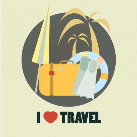 Travel icon flat design illustration in vector