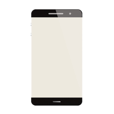 new age: Smartphohe nueva tecnolog�a de la era moderna en blanco aislado en blanco backgroun