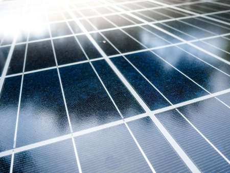 harmless: Texture of Solar cell battery panel with selected focus filling frame. Stock Photo