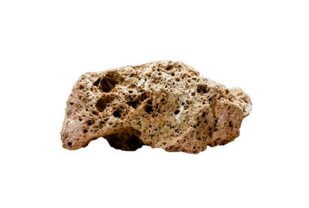 vesicular stone: Pumice stone isolated over a white background Stock Photo