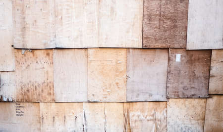 tinge: Cracked  wooden board, row and layer  wooden wall Stock Photo