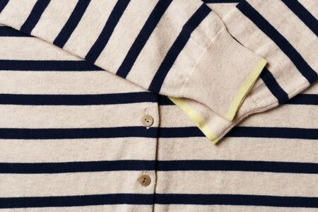sleeve: Blue stripe cardigan with sleeve  texture background