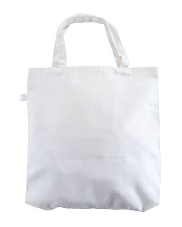 White tote bag isolated on white background