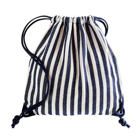Drawstring backpack isolated on white background Stock Photo