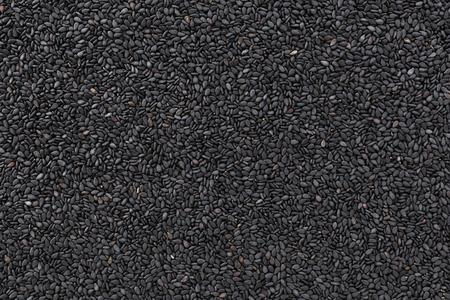 Black sesame closeup texture and background Stok Fotoğraf