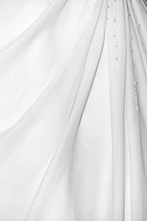 Close-up of white wedding dress Stock Photo - 6230782