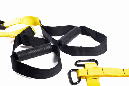 black trx on an isolated background Stock Photo