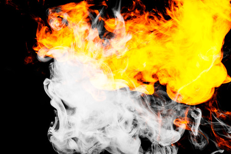 Fire flames background.  Background of smoke vape