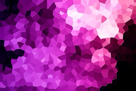 A photograph of an abstract geometric pink pattern from various polygons and triangles
