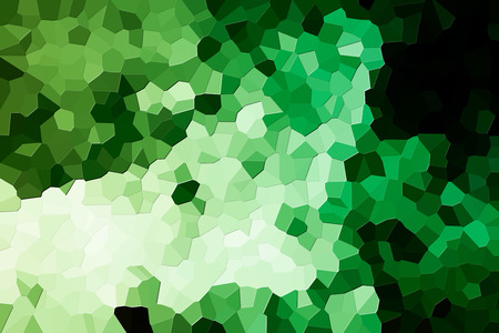 Abstract modern background with  geometric pattern from various  green polygons and triangles