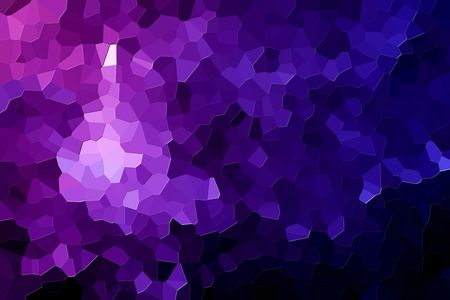 Colorful abstract geometrical composition, geometric pattern from purple various polygons and triangles  on black paper background. Imagens